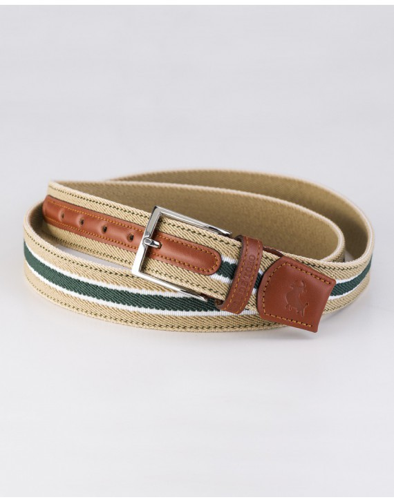 Belt three bands with leather tops