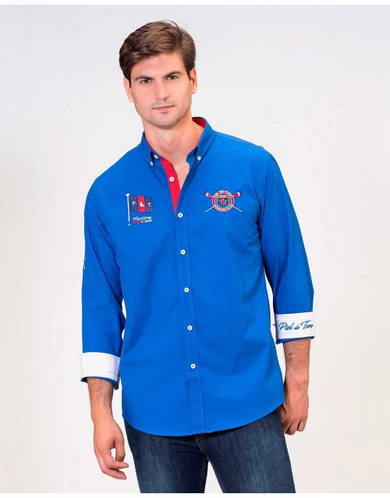 SLIM FIT SHIRT WITH ROWING INSPIRATION