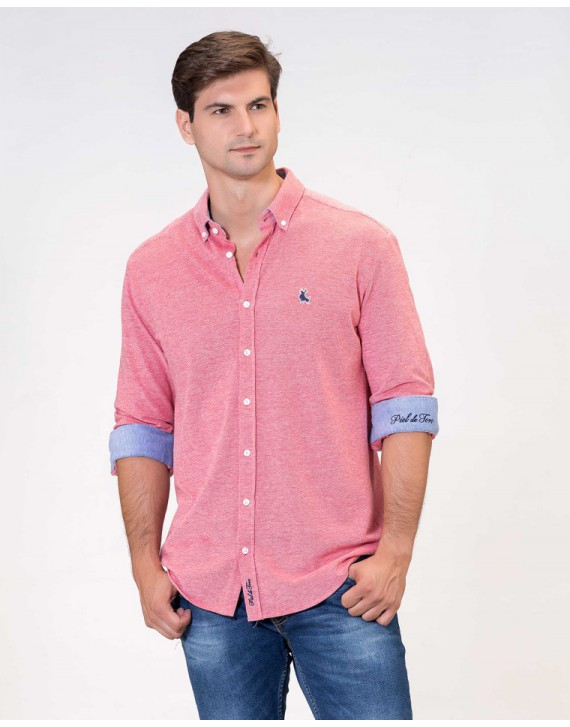 RELAXED FIT PIQUE SHIRT