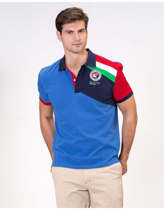 EMBROIDERED POLO WITH NAUTICAL INSPIRATION