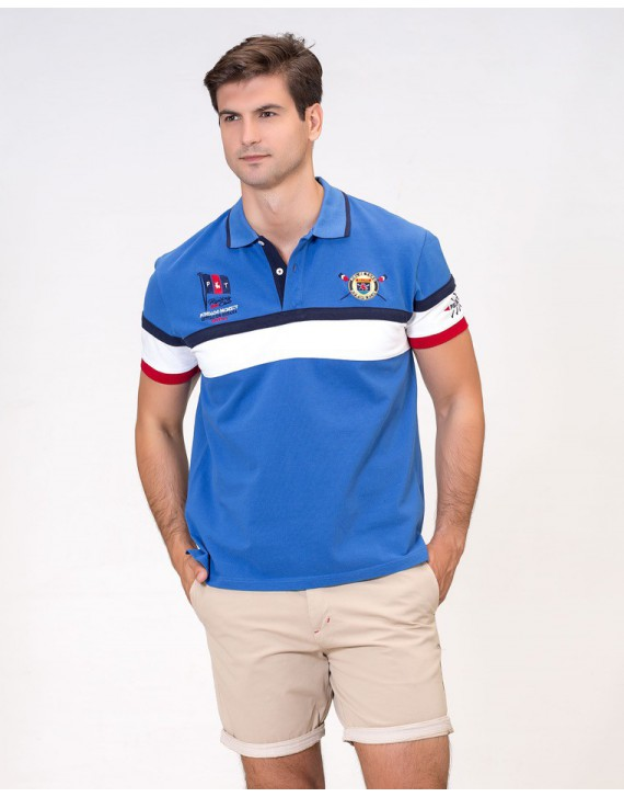EMBROIDERED POLO WITH ROWING INSPIRATION