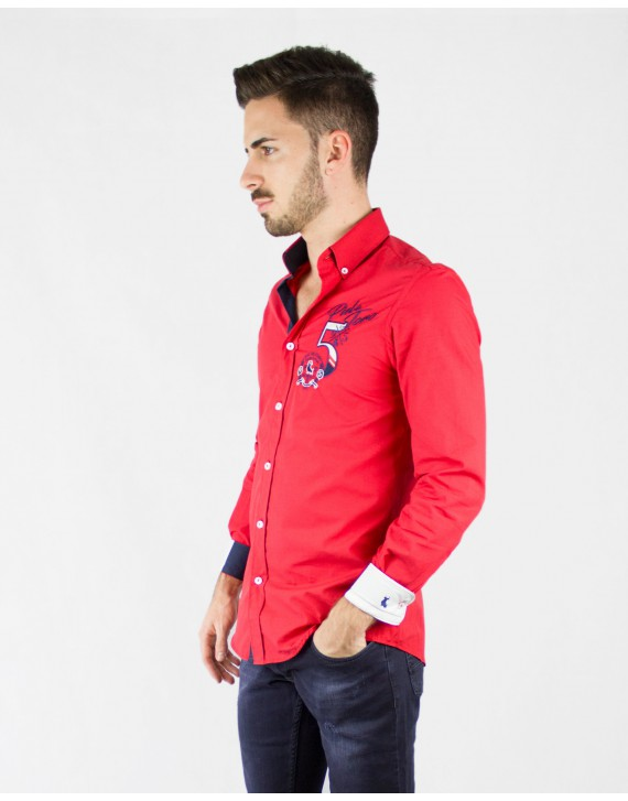 REGULAR FIT EMBROIDERED SHIRT WITH BULL FIGHTING INSPIRATION