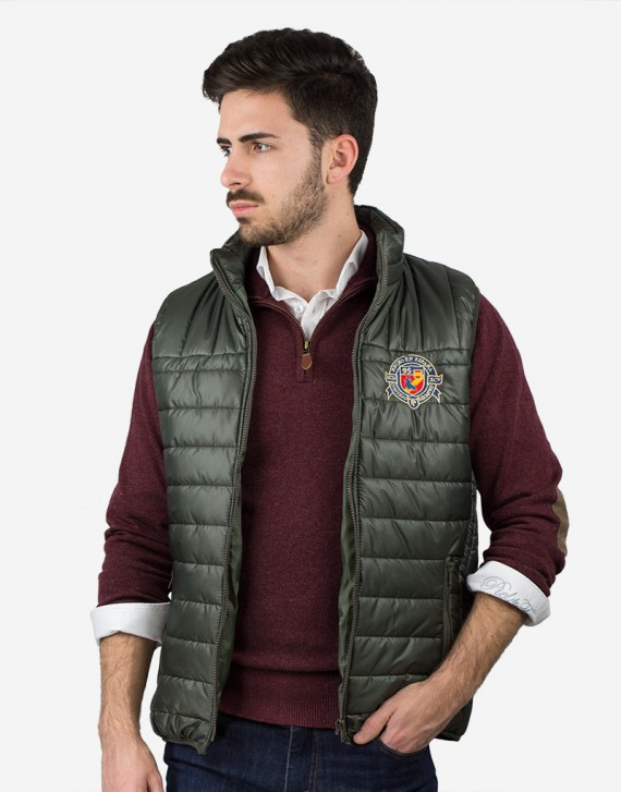 EMBROIDERED PADDED VEST