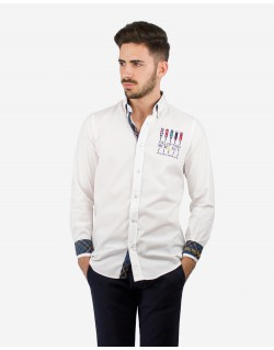 CAMISA REGULAR FIT BORDADOS REMO