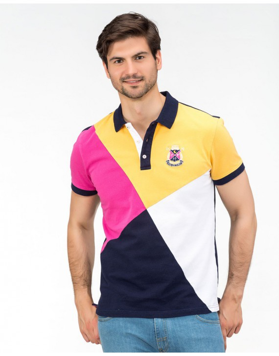 EMBROIDERED POLO WITH BULL FIGHTING INSPIRATION