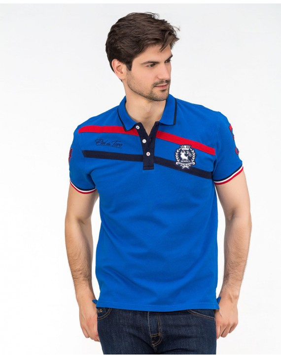 EMBROIDERED POLO WITH FLAG INSPIRATION
