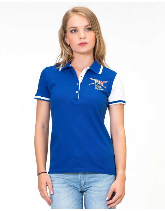 SLIM FIT EMBROIDERED POLO WITH ROWING INSPIRATION