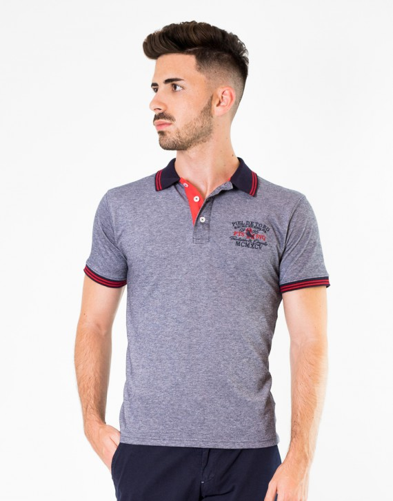 POLO REGULAR FIT CON BORDADO Y VIVOS