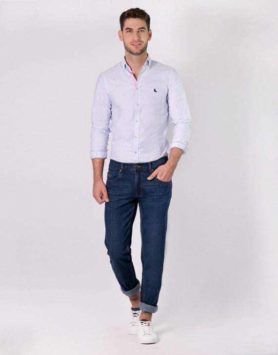 CAMISA OXFORD REGULAR FIT CONSTRASTE