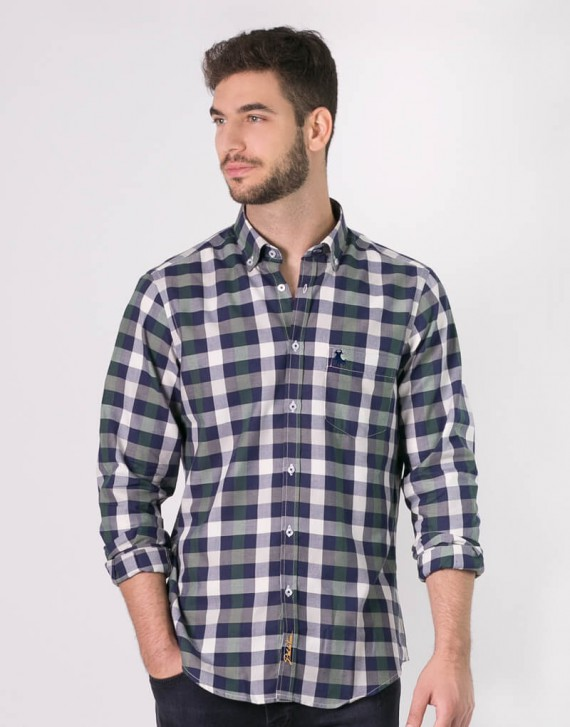 CHECK SHIRT WITH FRONT POCKET