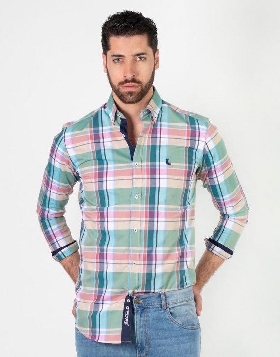 combined check shirt