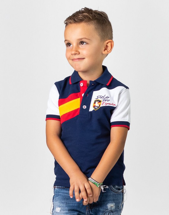 Boy Spain Embroidered Polo