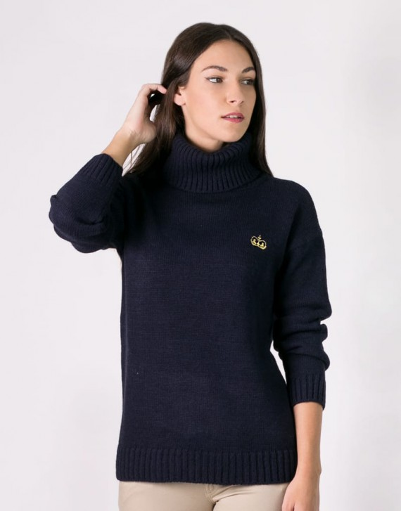 NECKLINE KNIT SWEATER WITH EMBROIDERY