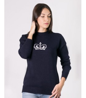 CROWN EMBROIDERED SWEATER