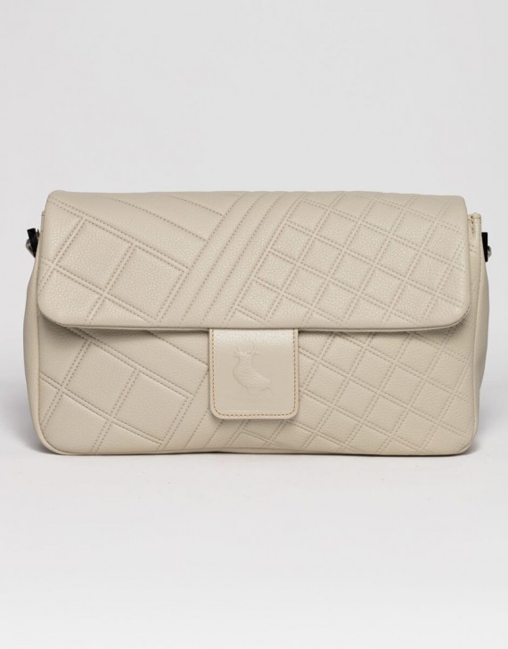 Geometric quilted bag