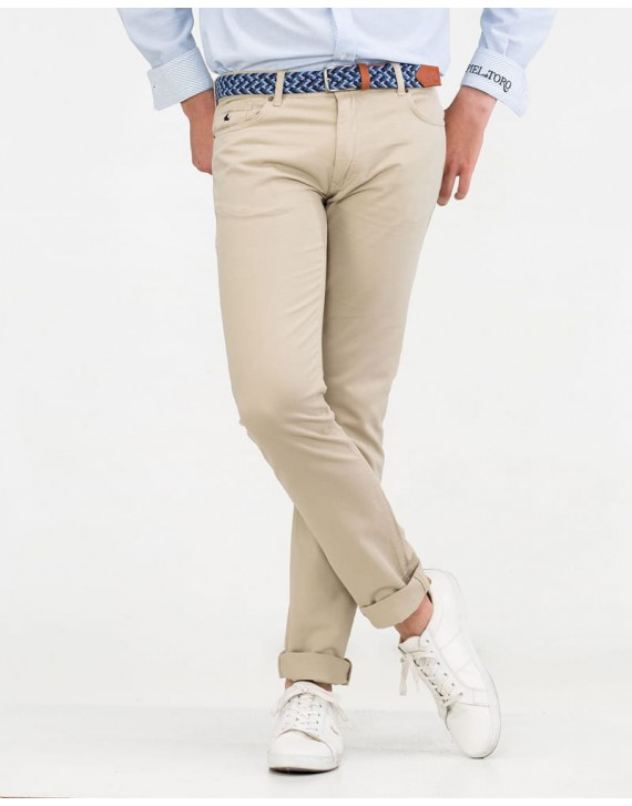 5 POCKET SLIM FIT TROUSERS